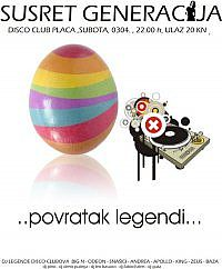 SUSRET GENERACIJA DISCO CLUB PLACA