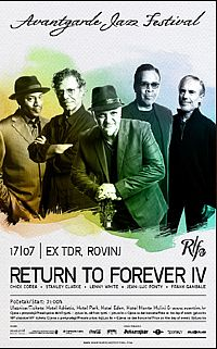 Concert of Return to Forever IV and Chick Corea in Rovinj!