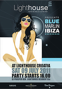 Lighthouse in Croatia presents Blue Marlin Ibiza
